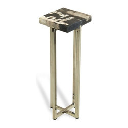 Interlude - Argo Square Drink Table - Natures beauty meets man made luxe in this drink table.