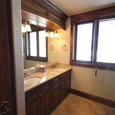 Traditional Bathroom by Pinnacle Mountain Homes