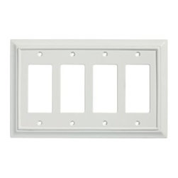Liberty Hardware - Liberty Hardware 126338 Wood Architectural WP Collect 5.51 Inch Switch Plate - W - A simple change can make a huge impact on the look and feel of any room. Change out your old wall plates and give any room a brand new feel. Experience the look of a quality Liberty Hardware wall plate.. Width - 5.51 Inch,Height - 8.8 Inch,Projection - 0.4 Inch,Finish - White,Weight - 0.22 Lbs