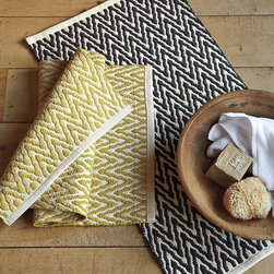 Zig Zag Bath Mat - Add a strong graphic pattern to a neutral bath with these zig-zag bath mats.