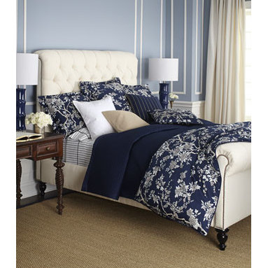 "Ralph Lauren - Ralph Lauren King Diamond-Quilted Wyatt Coverlet, 108"" x 90"" - Meticulous craftsmanship defines elegant and polished, 624-thread-count cotton sateen bedding with beautifully executed hemstitch detail. Select pieces may be monogrammed, if desired. From Ralph Lauren's Signature Classics collection. Select color w..."