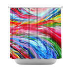 DiaNoche Designs - Shower Curtain Artistic - Rainbow Cyclone - DiaNoche Designs works with artists from around the world to bring unique, artistic products to decorate all aspects of your home.  Our designer Shower Curtains will be the talk of every guest to visit your bathroom!  Our Shower Curtains have Sewn reinforced holes for curtain rings, Shower Curtain Rings Not Included.  Dye Sublimation printing adheres the ink to the material for long life and durability. Machine Wash upon arrival for maximum softness on cold and dry low.  Printed in USA.