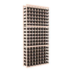 Wine Racks America - 8 Column Standard Wine Cellar Kit in Pine, White Wash Stain + Satin Finish - Wooden wine storage available in pine or redwood Plus many stain and finish options. The best rack for an intermediate collector. This rack stores up to 12 cases of wine in 18 bottle columns. You'll love it. We guarantee it.
