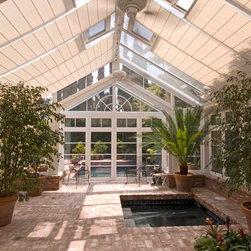Conservatory Shades - Pool house with conservatory shades - Photo by James Licata