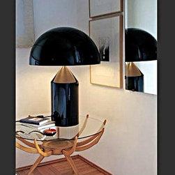 Italian Oluce Metal Table Lamp in Baking Finish -