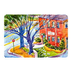 Caroline's Treasures - Harbour Kitchen Or Bath Mat 20X30 - Kitchen or Bath COMFORT FLOOR MAT This mat is 20 inch by 30 inch.  Comfort Mat / Carpet / Rug that is Made and Printed in the USA. A foam cushion is attached to the bottom of the mat for comfort when standing. The mat has been permenantly dyed for moderate traffic. Durable and fade resistant. The back of the mat is rubber backed to keep the mat from slipping on a smooth floor. Use pressure and water from garden hose or power washer to clean the mat.  Vacuuming only with the hard wood floor setting, as to not pull up the knap of the felt.   Avoid soap or cleaner that produces suds when cleaning.  It will be difficult to get the suds out of the mat.