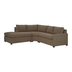Lazar Industries - Terra Sectional:  Chaise and Adjacent 2-Seater Sofa in Bridge Iron - Terra Sectional:  Chaise and Adjacent 2-Seater Sofa:  Lazar's most compact model allows for a lot of comfort and style regardless of your space.