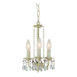 Trans Globe Lighting - Trans Globe Lighting 50308 AW The Olde World Traditional Chandelier - With mixed beads.