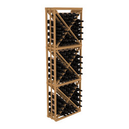 Wine Racks America - Full Height Diamond Bin Kit in Pine, Oak - A unique wine rack designed for longevity and simple wine storage. Engineered with our modular cellar specifications for seamless integration with any of our modular wine rack kits. Functions well as either a freestanding wine rack or as part of a complete wine cellar design.