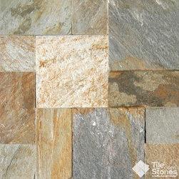 Golden White Gauged Slate | Versailles Pattern - Golden White