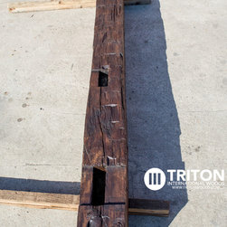 Reclaimed Oak mantel beam - Reclaimed Oak mantel beam. This product is hand hewn and has been finished with a wax finish in Tudor Brown.