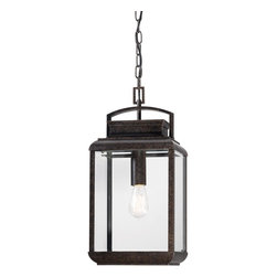 Quoizel Lighting - Quoizel Lighting BRN1910IB Byron Outdoor Down Light Pendant With 1 Light - For over seventy years, Quoizel lighting has been dedicated to the design and production of its diversified line of fine lighting products and home accessories.