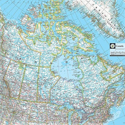 Magic Murals - Map of Canada Wallpaper Wall Mural - Self-Adhesive - Multiple Sizes - Magic Mura - Map of Canada Wall Mural