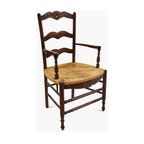 French Ladderback Arm Chairs -