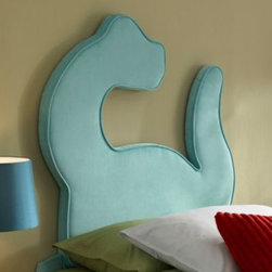 L. Powell Acquisition Corp. - Dinosaur Twin Bed Headboard - A cool and stylish accent to a child's bedroom, this headboard features a striking silhouette of a towering dinosaur in delightful turquoise. Perfect for any twin size bed, its unique shape and eye-catching color will spice up the look of any room.