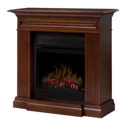 Dimplex North America - Branagan Fireplace Traditional Mantel with Faux Log Insert, Walnut - *LED Flame Technology A blend of technology, artistry and craftsmanship, the patented LED Dimplex flame technology creates the illusion of a true fire.