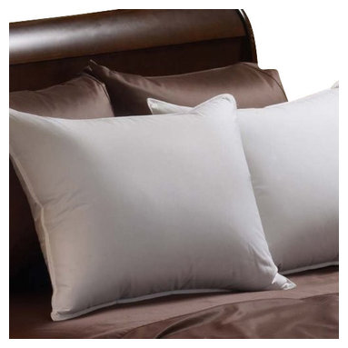 """Pacific Coast Feather Company - Pacific Coast Down Chamber Pillow - Pacific Coast Down Chamber Pillow The softness and """"giveability"""" of down, enhanced for firmer support. A patented inner sleeve concentrates down fill through the heart of the pillow to provide extra firmness."""