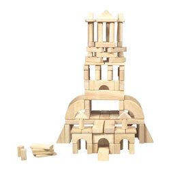 Guidecraft - Guidecraft Hardwood Unit Blocks (110 Pieces) - Guidecraft - Wooden Play Sets - G93110 - Guidecraft smooth unit blocks are made to resist dents and dings. Our European must-have toy for preschoolers is a set of unit blocks. This is the type of gift that keeps on giving because it grows with your child's imagination. Stephanie Oppenheim - Toyportfolio.com.Features: