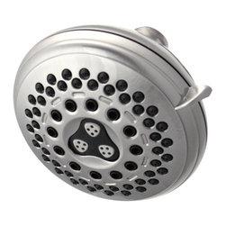 """Waterpik - Waterpik Medallion Brushed Nickel 7 Setting Showerhead IDC-739 - Waterpik """"Medallion"""" 7 Spray Settings Showerhead."""