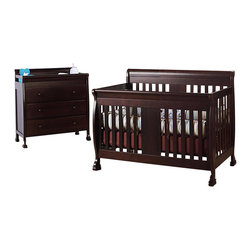 Da Vinci - DaVinci Porter 4-in-1 convertible Crib Crib and 3-drawer Change in Espresso Incl - Da Vinci - Baby Crib Sets - M8501QM8555Qpkg -