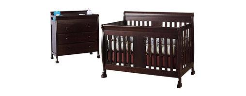 Da Vinci - DaVinci Porter 4-in-1 convertible Crib Crib and 3-drawer Change in Espresso Incl - Da Vinci - Baby Crib Sets - M8501QM8555Qpkg -