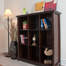 WyndenHall - Normandy Tobacco Brown 9 Cube Bookcase & Storage Unit - The Normandy 9 Cube Bookcase & Storage Unit allows you to store everything in a neat and tidy manner. This graceful simple design offers visual charm along with function, durability and plenty of storage and display room.