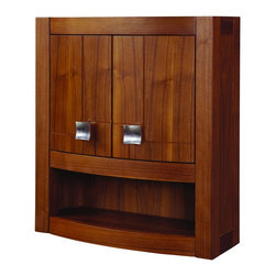 "DecoLav - Decolav 5245-MWN Gavin Wall Cabinet - Decolav 5245-MWN Gavin Wall CabinetDECOLAV's Gavin 23""Wx9""Dx26""H Wall Cabinet has curved front doors with an adjustable interior shelf. Soft closing hinges are used for a smooth secure close. The elegant hardware included add an extra function and style creating an overall visual masterpiece to this collection. The trend setting design of this collection is ideal for any decor.Decolav 5245-MWN Gavin Wall Cabinet, Features:&#149 Part of the Gavin Modular Collection"