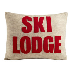 alexandra ferguson llc - Ski Lodge, Oatmeal/Red - Cozy up after a long day on the slopes with this winter home must-have. MADE IN THE USA