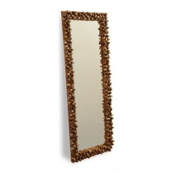 Two's Company - Float Wood Tall Mirror - Wood - Float Wood Tall Wall Mirror. The Mirror is a simply-styled, classically chic full-length bedroom mirror that will fit comfortably with your decor in any room.