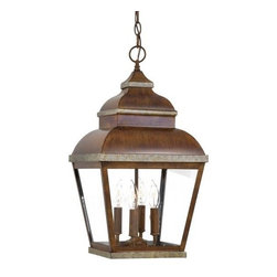 Minka-Lavery - Minka-Lavery Mossoro 4-Light Outdoor Chain Hung - This 4-Light Hanging Lantern has a Bronze Finish and is part of the Mossoro Collection.