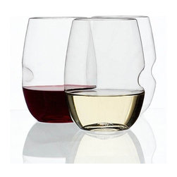 Govino Shatterproof and Stemless Wineglasses, Set of 4 - Enjoy some wine outdoors without the threat of broken glass with these shatterproof tumblers.