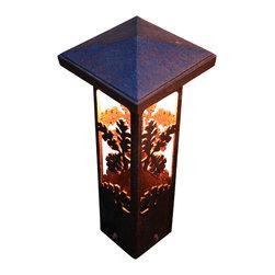 "Attraction Lights - Path Light-Decorative Steel- Oak Design, 17"" - -Solid, 1/8"" high grade steel construction"
