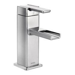 Moen - Moen 90 Degree Single Handle Bathroom Faucet with Trough Spout, Chrome (S6705) - Moen S6705 90 Degree Single Handle Bathroom Faucet with Trough Spout, Chrome