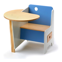 OFFI - Mini-Drawer Doodle Desk, Blue - Designed by Roberto Gil, part of the OFFI Mini Drawer and Store Collection.