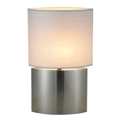 Adesso - Adesso 6421 Sophia Tall Table Lamp - Adesso 6421 Contemporary / Modern Sophia Tall Table Lamp  Each Sophia table lamp has an almond shaped base with an almond shaped PVC-lined rayon fabric shade. The shade has a thin striped horizontal pattern woven into the fabric.  Adesso was established in 1994 based on the belief that there was an under-served niche among consumers who sought high-end, contemporary home products at moderate prices. Since then, Adesso has not only revolutionized the home industry with its innovative products, but also gained substantial recognition for its well-designed and well-priced lamps and RTA furniture. From the onset, when Adesso first introduced its lighting products, an array of colors and materials were utilized in the design, including metals, rice-paper, woven fabric, glass, resin, renewable bamboo wood and cork! These materials help make every Adesso product beautifully unique, adding a perfect touch to any home.  Features: