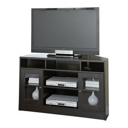 Jesper - Jesper - Entertainment Collection - Corner Tv Cabinet - Espresso - This high-performing Entertainment Collection is cleverly designed making it easy to create the ideal media space in a small corner or large airy space.