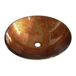 Kingston Brass - Kingston Brass Fauceture Amber Bronze Milano Round Glass Vessel Sink EVSPFB2 - Flashes of amber and orange are featured in this beautiful Firenze vessel sink. The combination of the colors work with the fluid pattern to flow marvelously across the bowl. The vibrant hues and tones of the sink glow and in shine in any lighting condition. The sink is crafted to the highest standards and from high quality tempered glass to ensure use for years to come.Manufacturer: Kingston BrassModel: EVSPFB2UPC: 663370315503Product Name: Fauceture EVSPFB2 Milano Round Amber Bronze Glass Vessel SinkCollection / Series: FaucetureFinish: Amber BronzeTheme: ClassicMaterial: GlassType: SinkFeatures: Crafted from high quality tempered glass