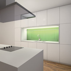 modern kitchen by klm-Architekten