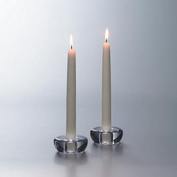 Simon Pearce Ascutney Candlestick Holder - I'll admit I'm biased; I'm a Simon Pearce fanatic. I find their hand-blown glass designs to be simple but elegant, and these small candleholders are no exception. They can fit in with every kind of decor from traditional to contemporary.