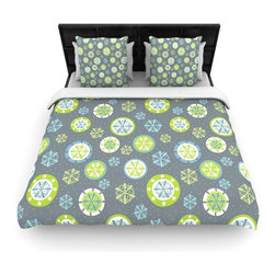 "Kess InHouse - Julie Hamilton ""Snowflake Slate"" Winter Cotton Duvet Cover (Queen, 88"" x 88"") - Rest in comfort among this artistically inclined cotton blend duvet cover. This duvet cover is as light as a feather! You will be sure to be the envy of all of your guests with this aesthetically pleasing duvet. We highly recommend washing this as many times as you like as this material will not fade or lose comfort. Cotton blended, this duvet cover is not only beautiful and artistic but can be used year round with a duvet insert! Add our cotton shams to make your bed complete and looking stylish and artistic!"