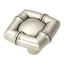 "Hickory Hardware - Hickory Hardware 1-1/4 In. Bamboo Satin Antique Silver Cabinet Knob - ""Spontaneous, unpredictable, fanciful, unusual or quaint"".... that's the definition you'll find in a dictionary.  We define it as a style that is full of unexpected - clever and creative ideas that jar the imagination while adding design and function."