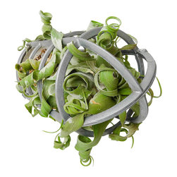EarthSeaWarrior - Vintage Industrial Live Air Plant Garden Cage - Give your home an industrial chic flair with this vintage metal plant cage. Whether you choose to hang it or place it flat on a table, this domed-top cage makes growing plants indoors both easy and elegant.