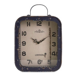 IMAX CORPORATION - Mandovi Vintage Clock - With nod's back to retro styling, the Mandovi vintage clock features a deep blue antiqued finish and classic numerals. Find home furnishings, decor, and accessories from Posh Urban Furnishings. Beautiful, stylish furniture and decor that will brighten your home instantly. Shop modern, traditional, vintage, and world designs.