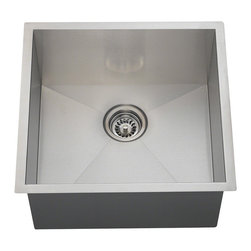 Polaris Sinks - Polaris Sinks PS1232 90 Deg. Rectangular Stainless Steel Utility Sink - The 90 degree ps1232 single bowl rectangular sink is constructed from one solid piece of 16 gauge,304 grade stainless steel.