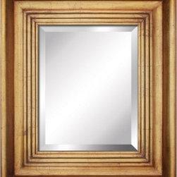 YOSEMITE HOME DECOR - Antique Golden Framed Mirror - Mirror with Antique Golden Wood Frame
