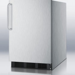 """Summit - AL750BI Series AL752BCSS  24"""" Compact All-Refrigerator with 5.5 cu. ft.  Adjusta - Summit39s AL752BCSS compact refrigerator features a fully wrapped stainless steel cabinet and door which will favorably increase the appearance of any room you decide to place this unit in The curved towel bar handle on this refrigerator offers luxur..."""