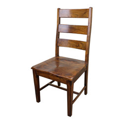 San Miguel 3 Panel Dining Chair - This San Miguel 3 Panel Chair is part our newest line of furniture. Clean lines, exclusive designs and as always, 100% Solid wood construction. The San Miguel line needs no introduction. This line stands alone from the rest with matching pieces available for Every room in your home. No veneers are used, Only solid planks of wood with a soft hand-rubbed wax. This finish makes this piece a perfect accent to any Spanish Colonial or Tuscan decor. Perfect with any of our San Miguel dining tables or desks. notice the contours in the seat? These 3 panel chairs are sold in pairs Only. Price is per chair.