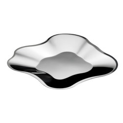 Iittala - Aalto Stainless Steel Tray - Large - Iittala - Alvar Aalto famously never dictated how his iconic glass vases should be used.