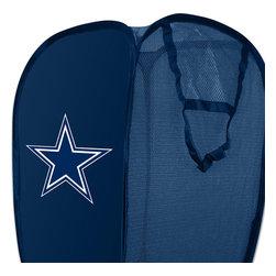 The Northwest Company - NFL Dallas Cowboys Pop-Up Hamper Football Storage Basket - Features: