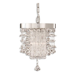 Uttermost - Uttermost Fascination Mini Pendant Light Fixture in Chrome Plated - Shown in picture: Chrome Plated Rim Adorned By Various Styles Of Crystal Accents. The classic appeal of crystal is updated for today's sophisticated tastes. Chrome plated rim adorned by various styles of crystal accents.